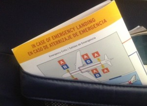 emergency instructions card